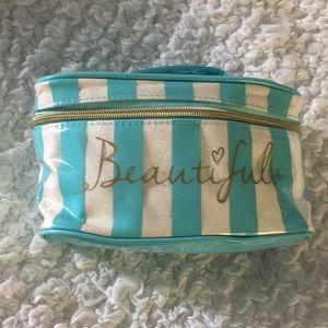 Beautiful Blue & White Makeup Case